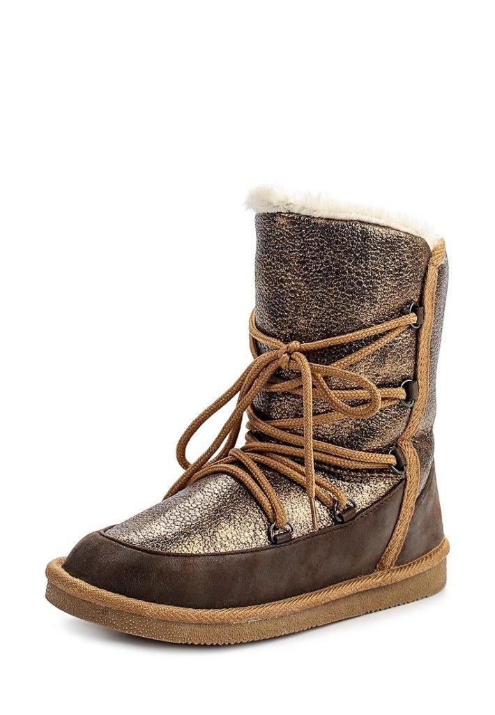 полусапоги зимние со шнурками