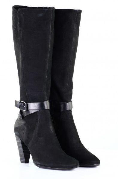 сапоги зимние с пряжкой на каблуке