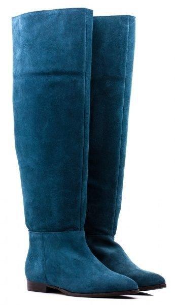 сапоги зимние синие без каблука
