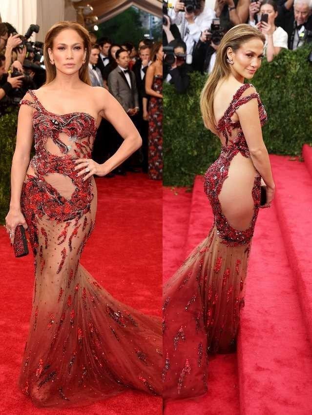 голое платье с камнями красное