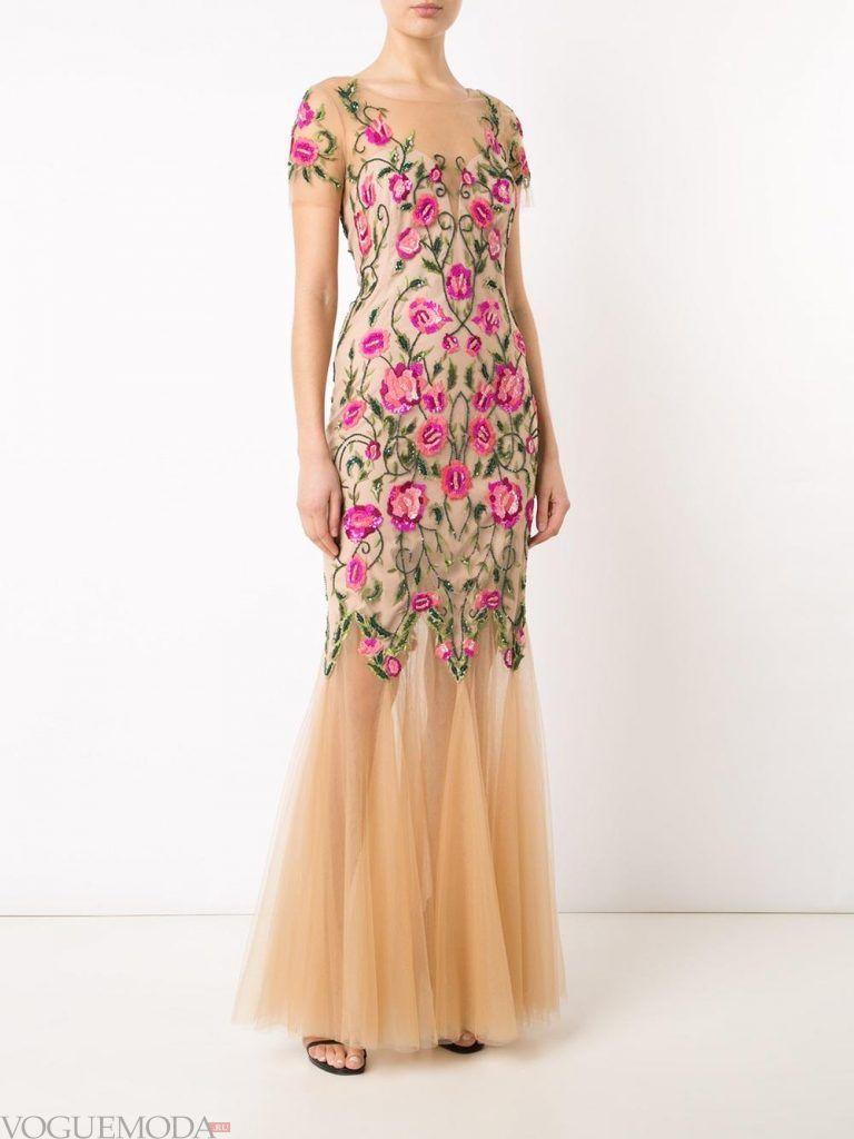голое платье русалка с цветами