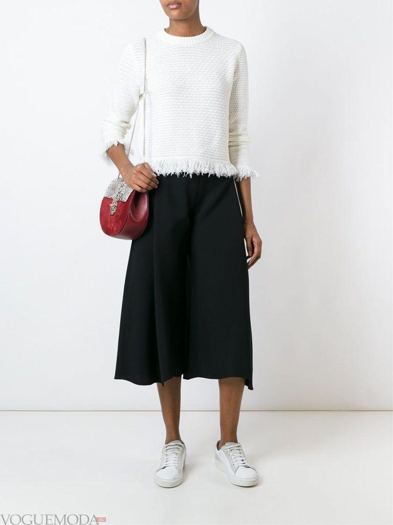 брюки кюлоты черные