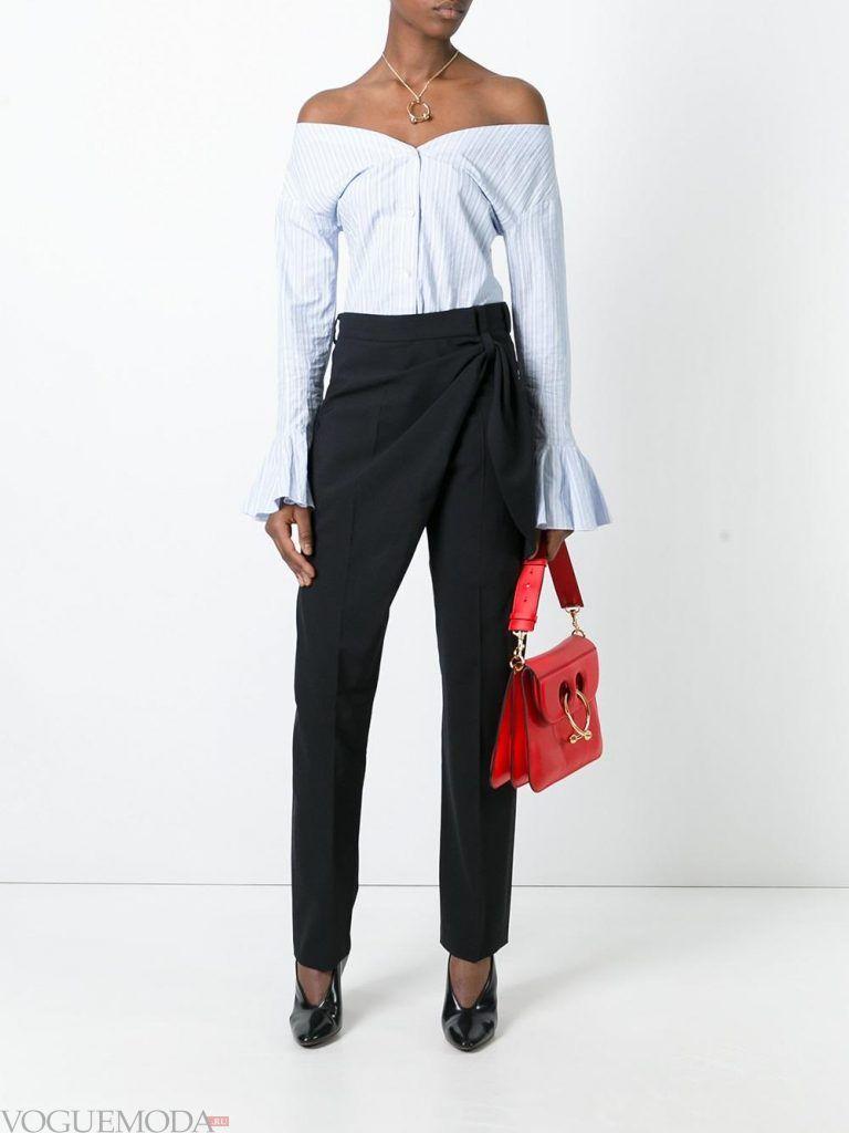классические брюки с запахом