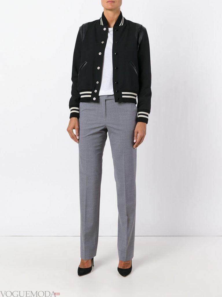 классические брюки серые