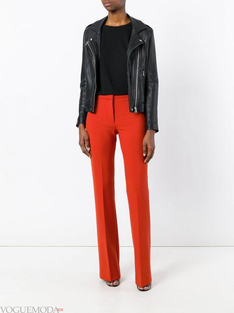 классические брюки красные