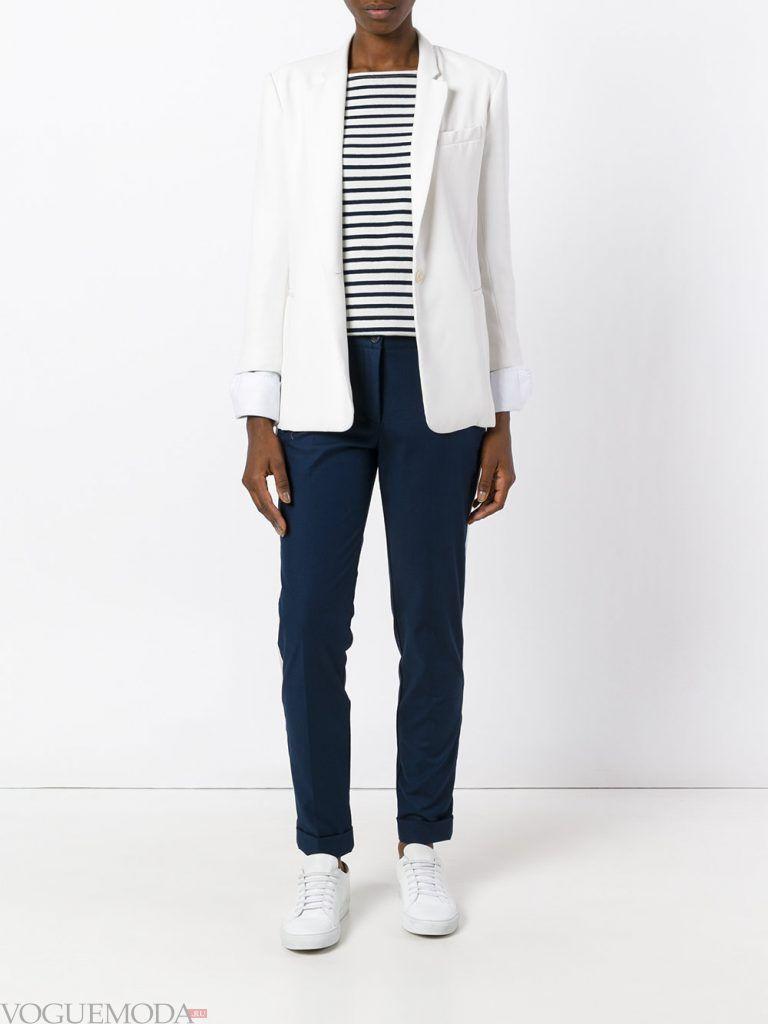 классические брюки синие