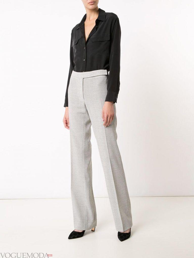 брюки с высокой посадкой светлые