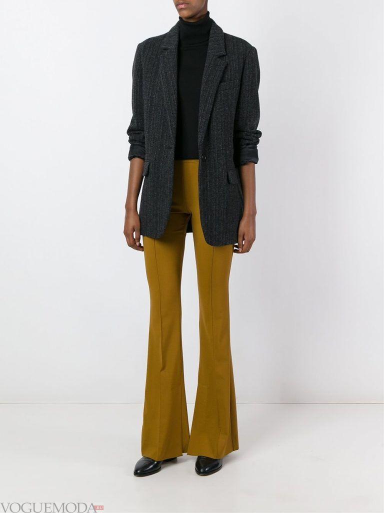 брюки клеш зеленые