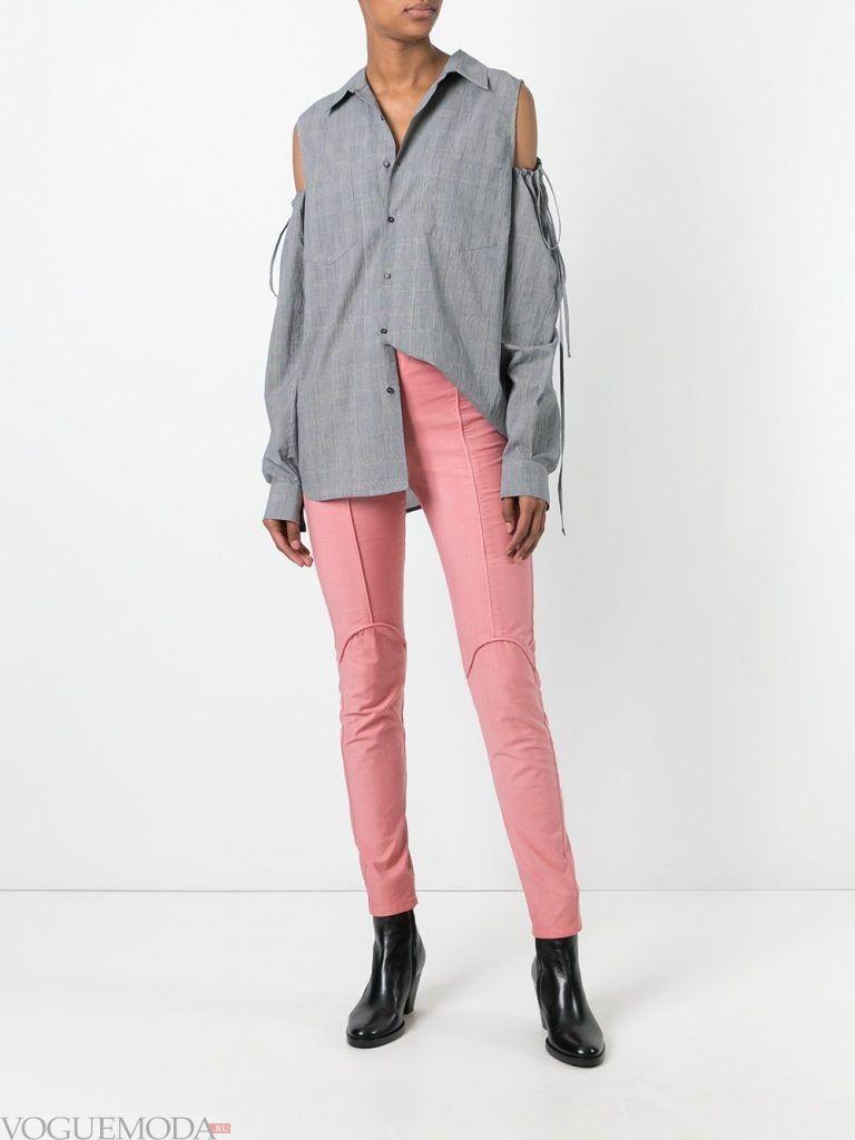 женские брюки розовые