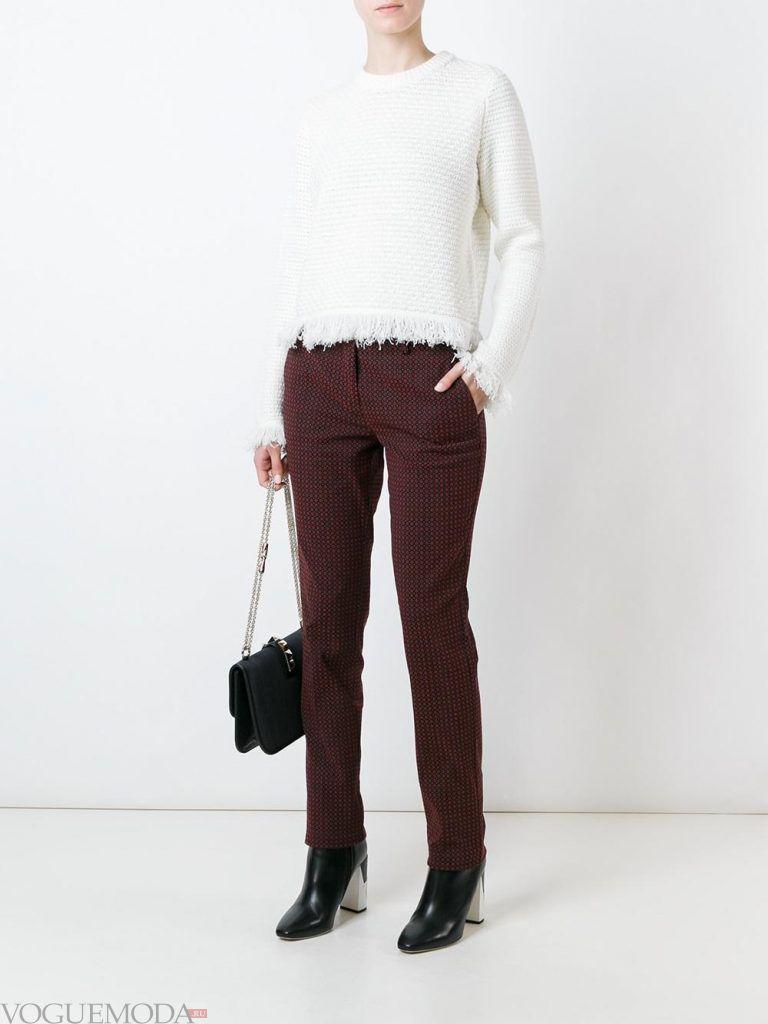 женские брюки с принтом