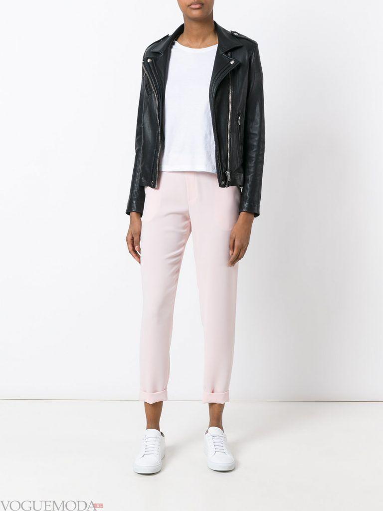 женские брюки белые