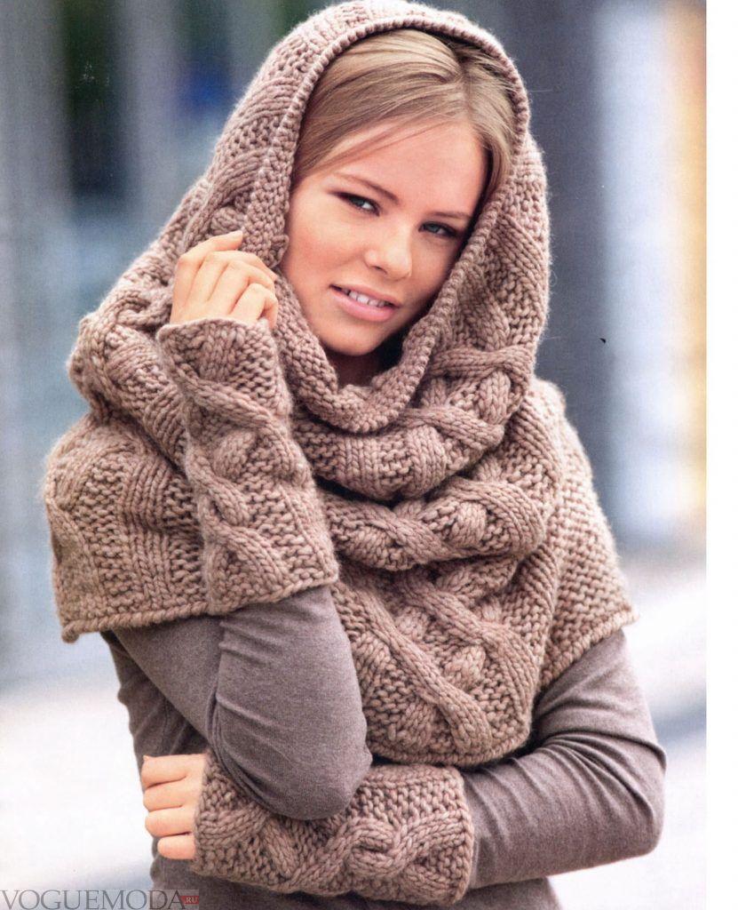 шарф-хомут бежевый