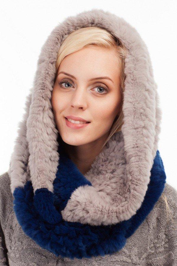 шарф-хомут нюдовый