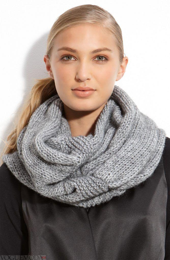 шарф-хомут серый