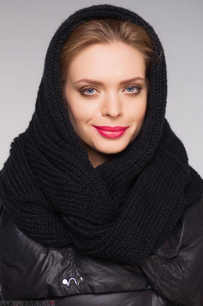 шарф-хомут черный
