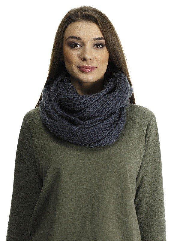 шарф-снуд темный