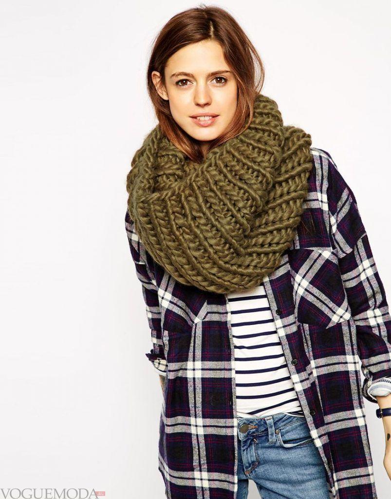 шарф-хомут зеленый