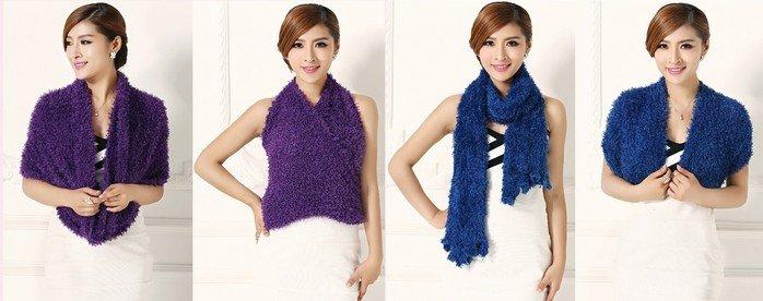 варианты носки шарфа-хомута