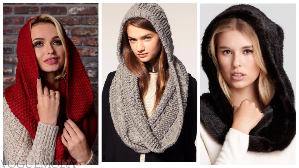 шарфы-хомуты разные