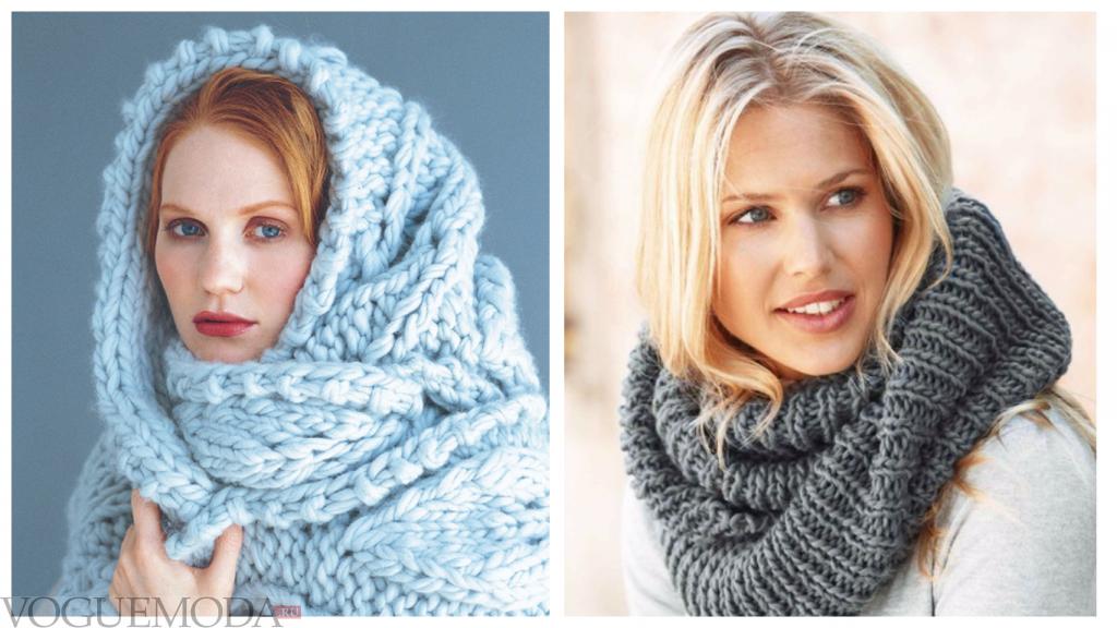 шарфы-хомуты яркие