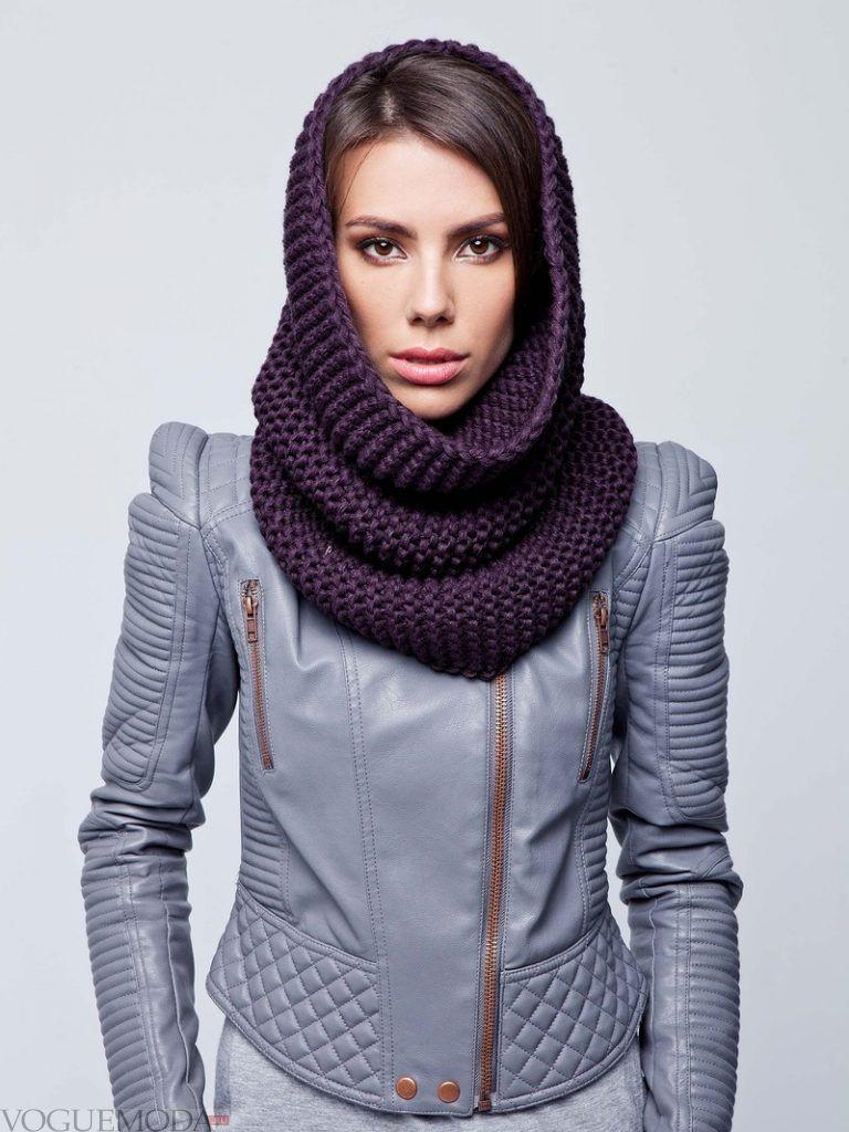 шарф-снуд черный