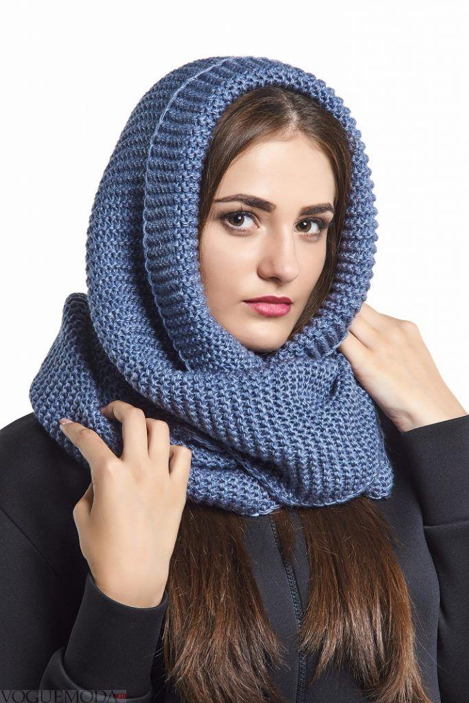 шарф-хомут синий