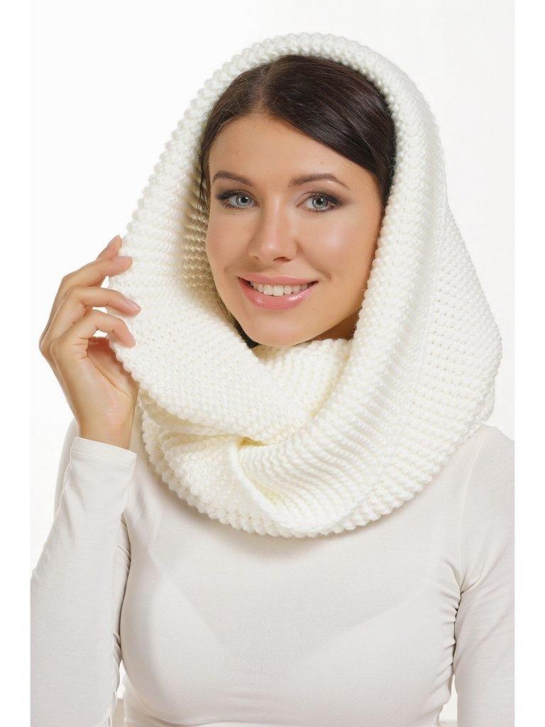 шарф-хомут белый
