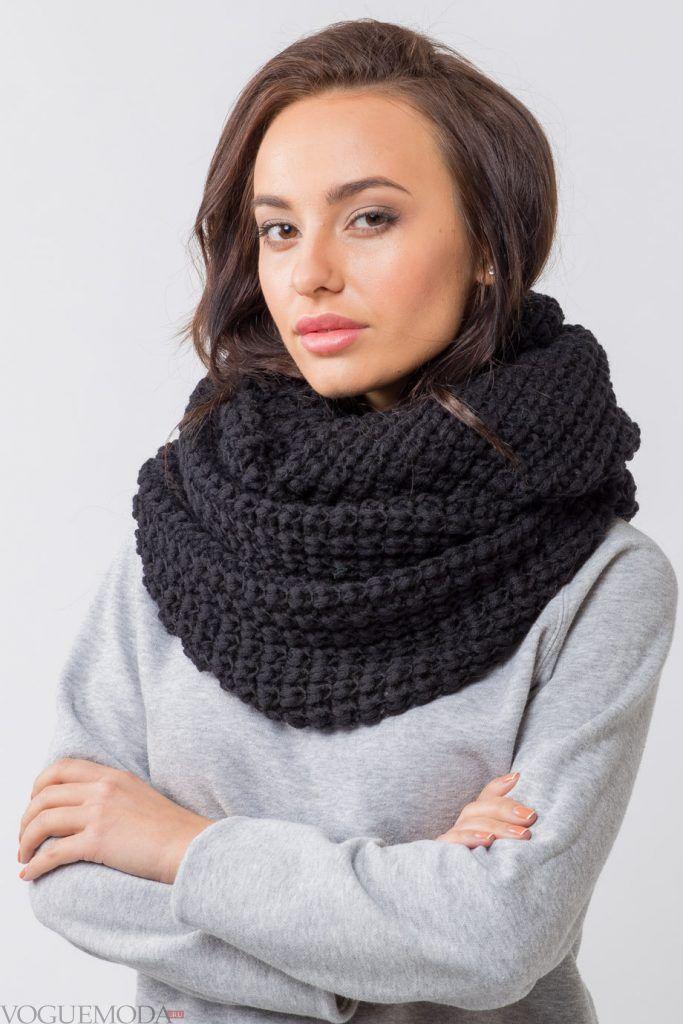 шарф-снуд вязаный