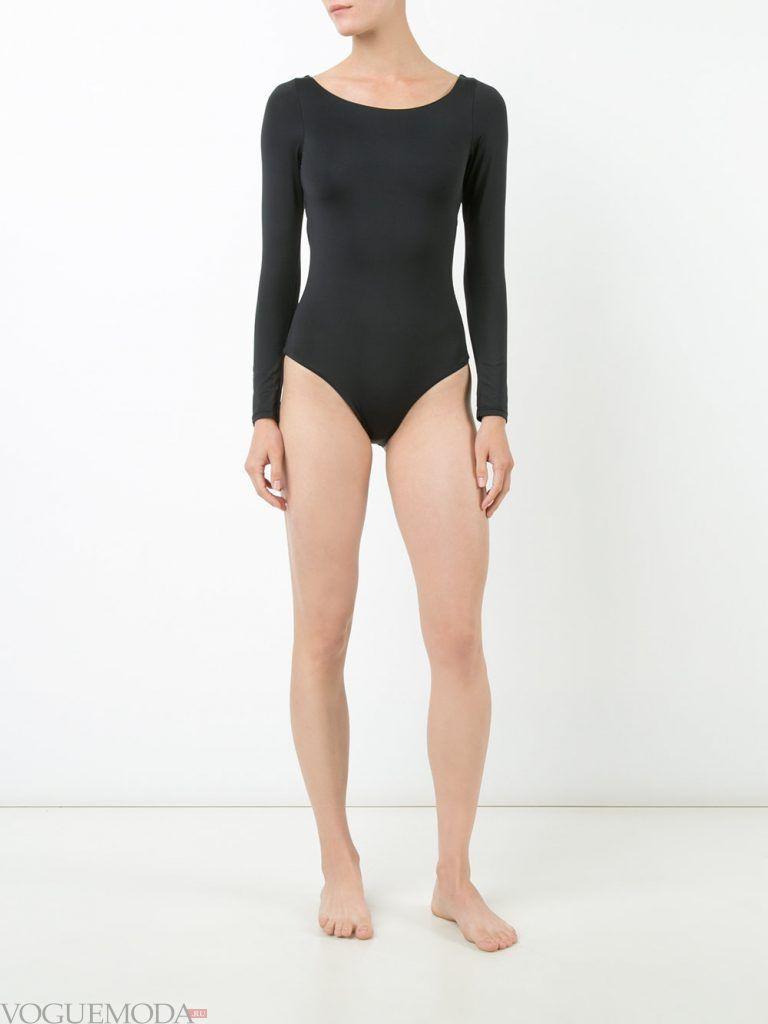 спортивный купальник с рукавами