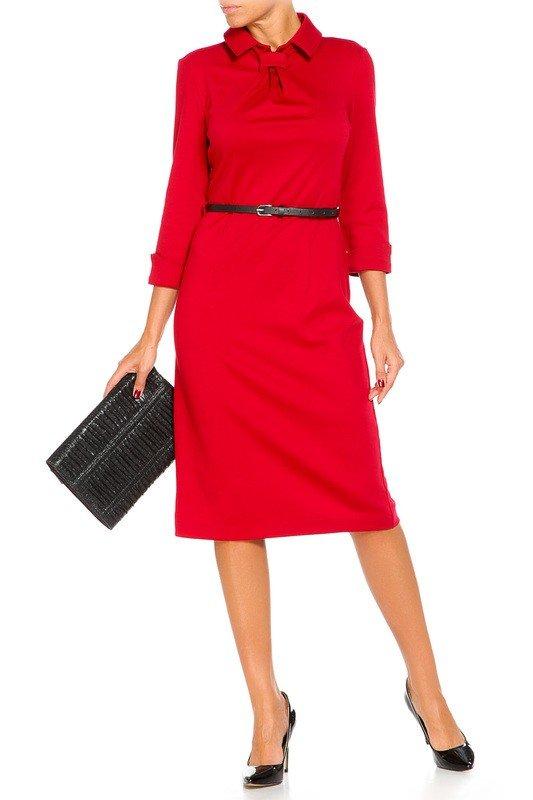 лук осень зима с красным платьем