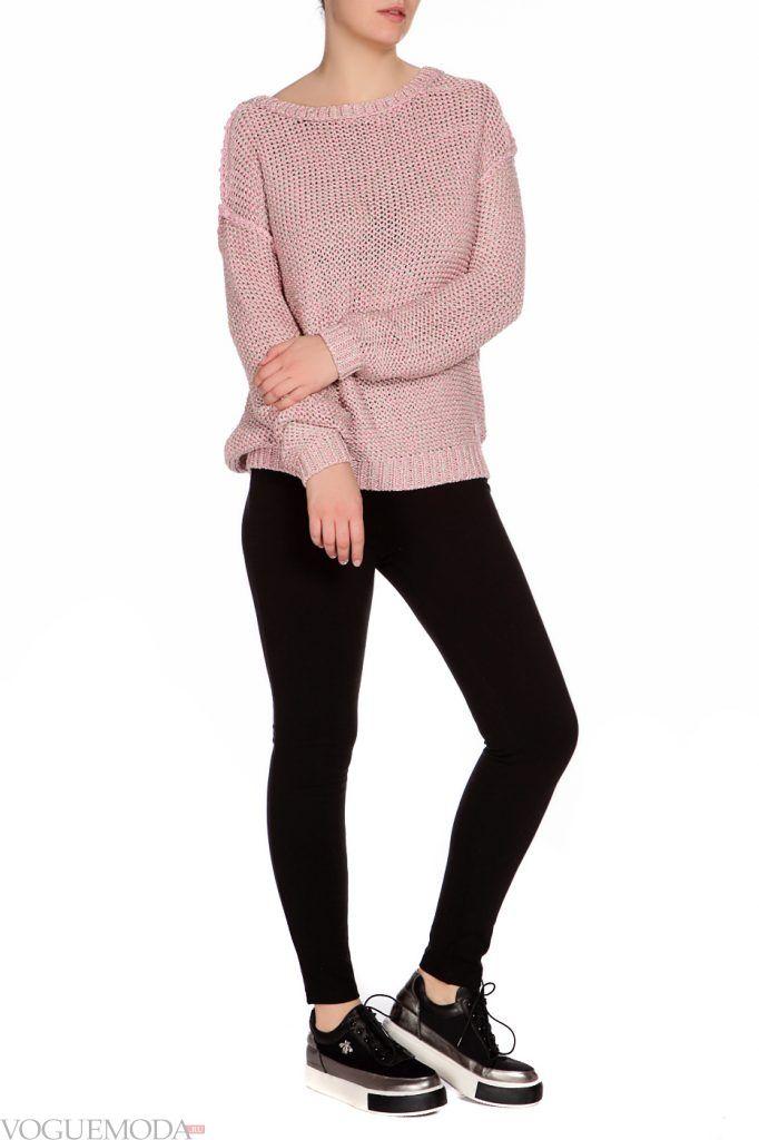 лук осень зима с розовым свитером