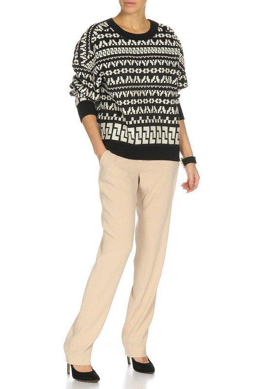лук осень зима с свитером с узором