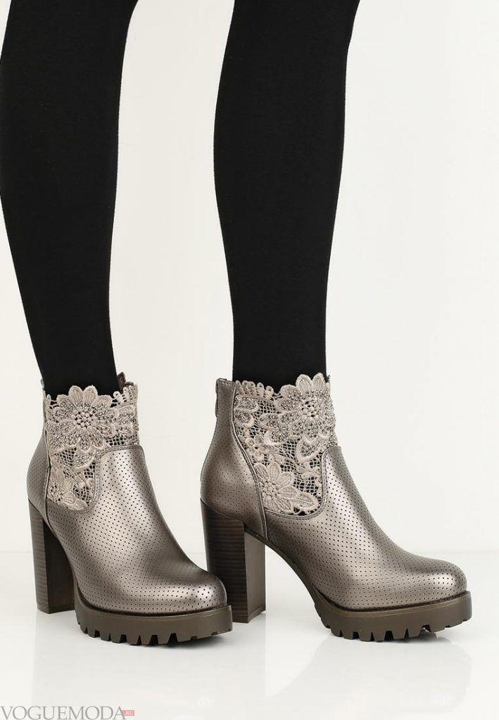 лук осень зима ботинки серые