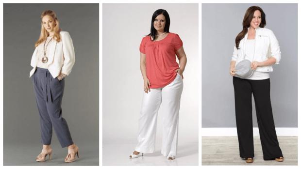 брюки для полных женщин яркие