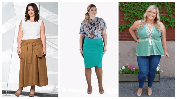 летняя мода для полных яркие луки