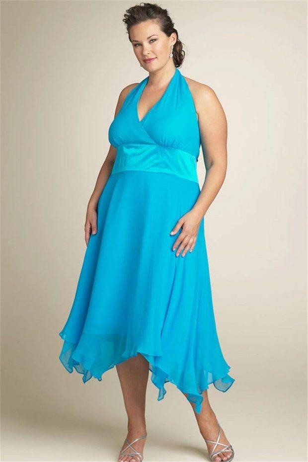 летняя мода для полных платье