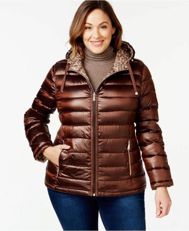 зимняя мода для полных куртка