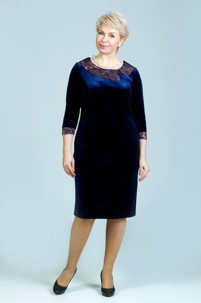платье для полных женщин темное