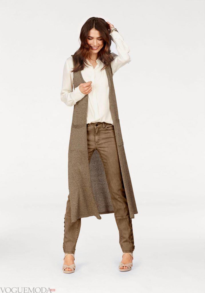 лук весна лето с коричневыми брюками