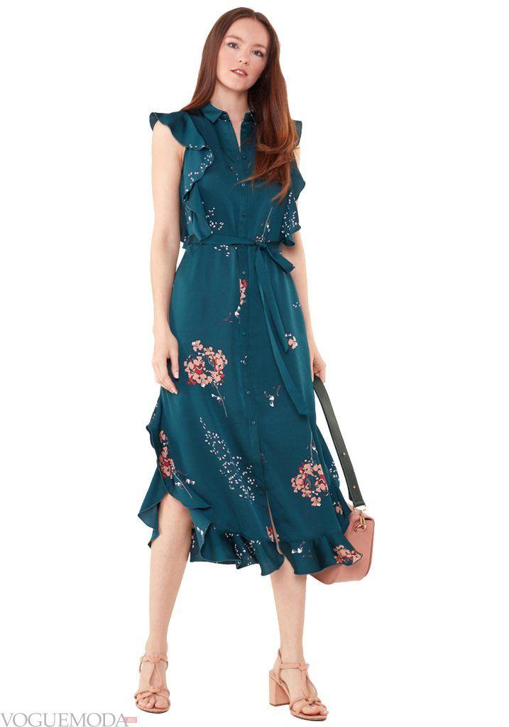 лук весна лето с синим платьем