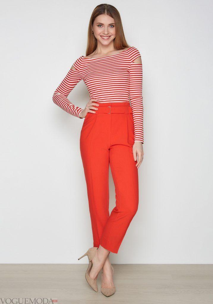 лук весна лето с красными брюками