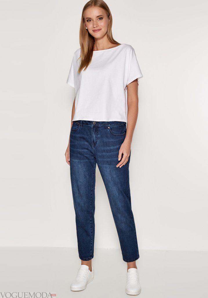 лук весна лето с синими джинсами