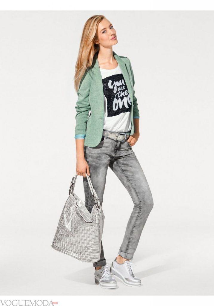 лук весна лето с зеленым пиджаком