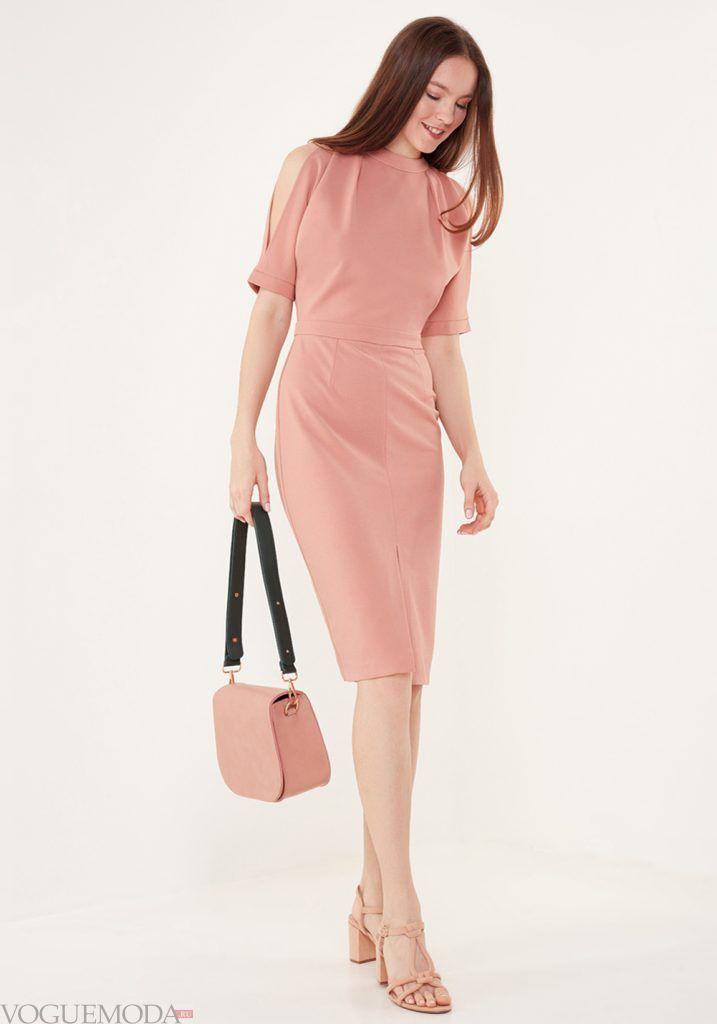 модный лук весна лето розовый