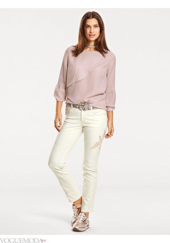 модный лук весна лето с брюками