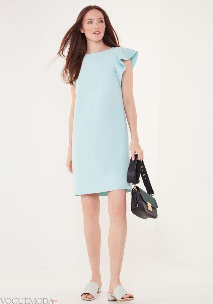 лук весна лето с голубым платьем