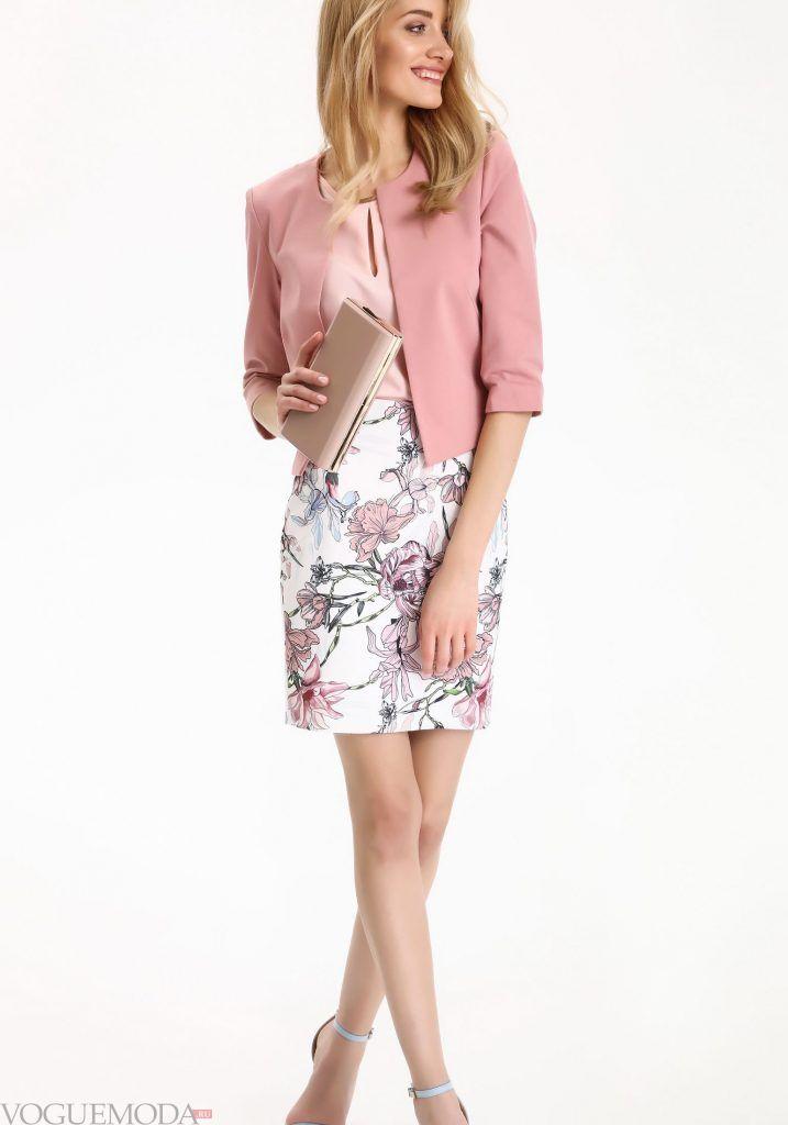 модный лук весна лето с платьем