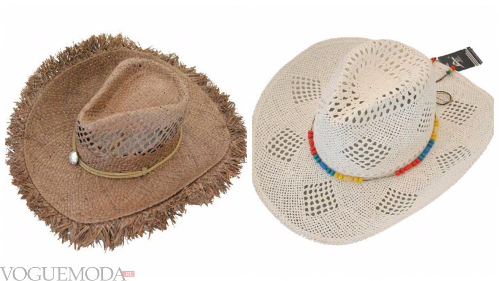 ковбойские шляпы светлые