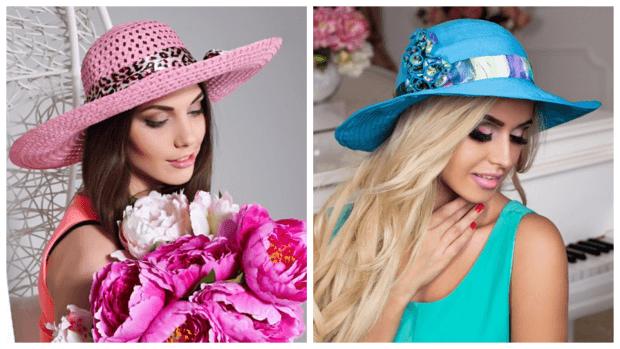лук яркие модные шляпы