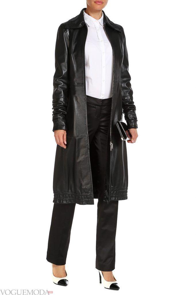 модный кожаный черный